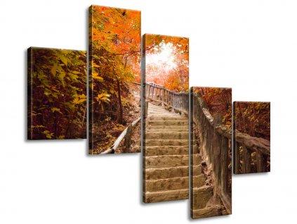 Obraz na plátně Podzimní procházka 100x75cm  Tištěný v HD