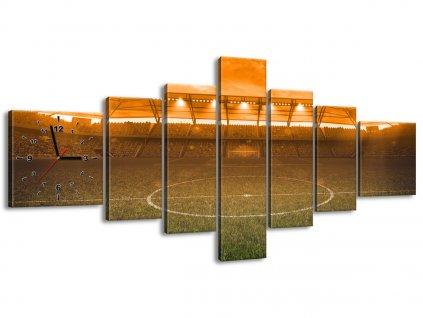 Obraz s hodinami Stadion při západu 210x100cm  Tištěný v HD