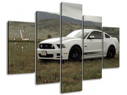 Obraz s hodinami Mustang GT V8 - Brett Levin 150x70cm  + Dárek