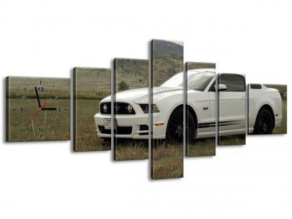 Obraz s hodinami Mustang GT V8 - Brett Levin 210x100cm  Tištěný v HD