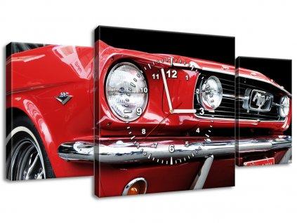 Obraz s hodinami Red Mustang - Y 90x30cm  + Dárek
