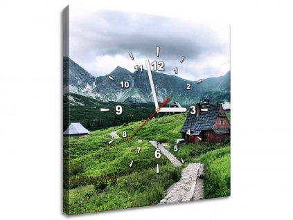 Obraz s hodinami Tatranské chaty  Tištěný v HD