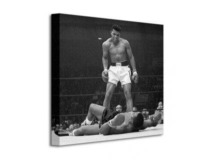 Obraz na plátně Muhammad Ali (Ali vs Liston - Corbis) 40x40cm  Tištěný v HD
