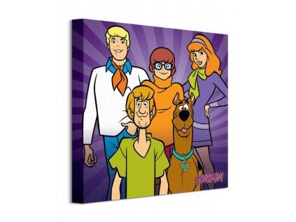 Obraz na plátně Scooby Doo Scooby Doo Team 40x40cm  + Dárek