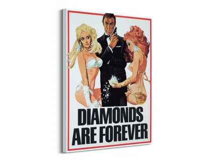 Obraz na plátně James Bond (Diamonds are Forever Girls) 60x80cm  + Dárek
