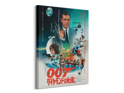 Obraz na plátně James Bond (Diamonds are forever Foreign Language) 60x80cm  + Dárek