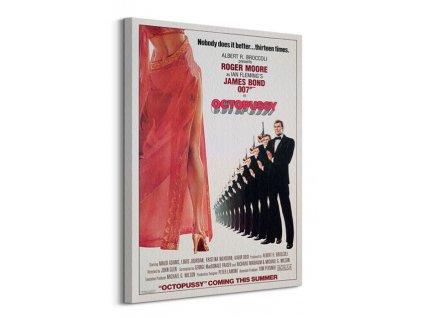 Obraz na plátně James Bond (Octopussy 13 times) 60x80cm  Tištěný v HD
