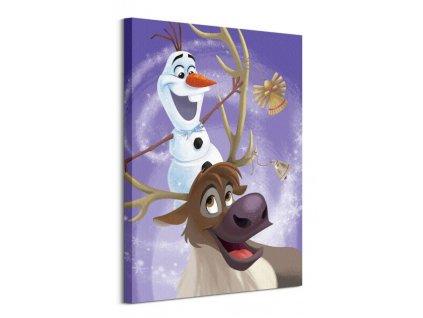 Obraz na plátně Disney Olaf s Frozen Adventure Olaf & Sven 60x80cm  Tištěný v HD
