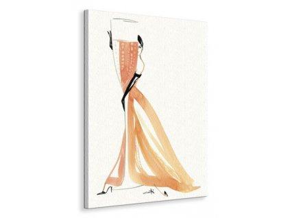 Obraz na plátně Champagne Rose Canetti Michel 60x80cm  + Dárek
