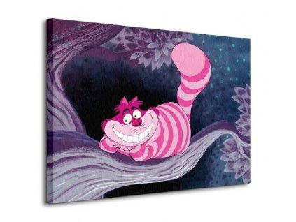 Obraz na plátně Disney Alenka v říši divů (Cheshire Cat) 80x60cm  Tištěný v HD