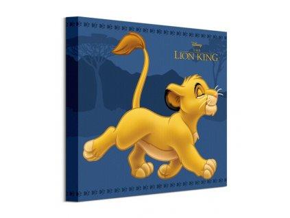 Obraz na plátně Disney Lví král Simba 30x30cm  Tištěný v HD