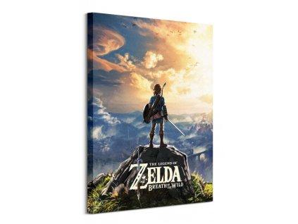 Obraz na plátně The Legend Of Zelda Breath Of The Wild Sunset 60x80cm  + Dárek