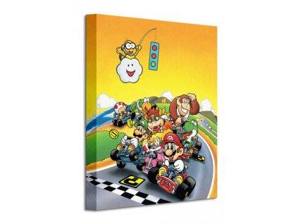 Obraz na plátně Nintendo Super Mario Kart (Retro) 30x40cm  + Dárek
