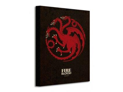 Obraz na plátně Game of Thrones (Targaryen) 30x40cm  Tištěný v HD
