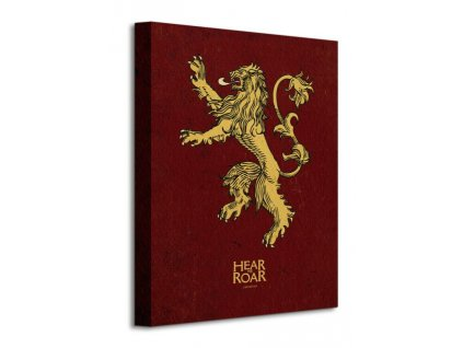 Obraz na plátně Game of Thrones (Lannister) 30x40cm  Tištěný v HD