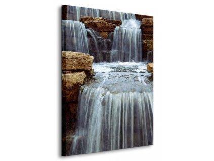 Obraz na plátně Čirý vodopád Elisseeva Elena 90x120cm  Tištěný v HD