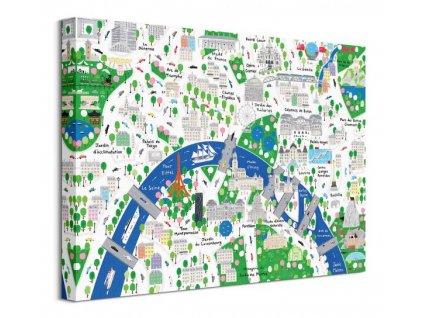 Obraz na plátně Pařížské ulice Malone Jamie 40x30cm  + Dárek