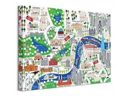 Obraz na plátně Ulice Londýna Malone Jamie 40x30cm  + Dárek