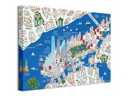 Obraz na plátně Barevný New York Malone Jamie 40x30cm  + Dárek
