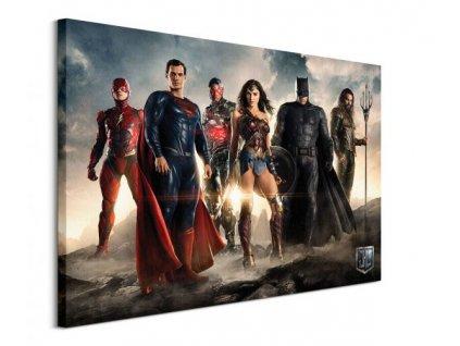 Obraz na plátně DC Comics Liga spravedlivých (Teaser) 80x60cm  Tištěný v HD