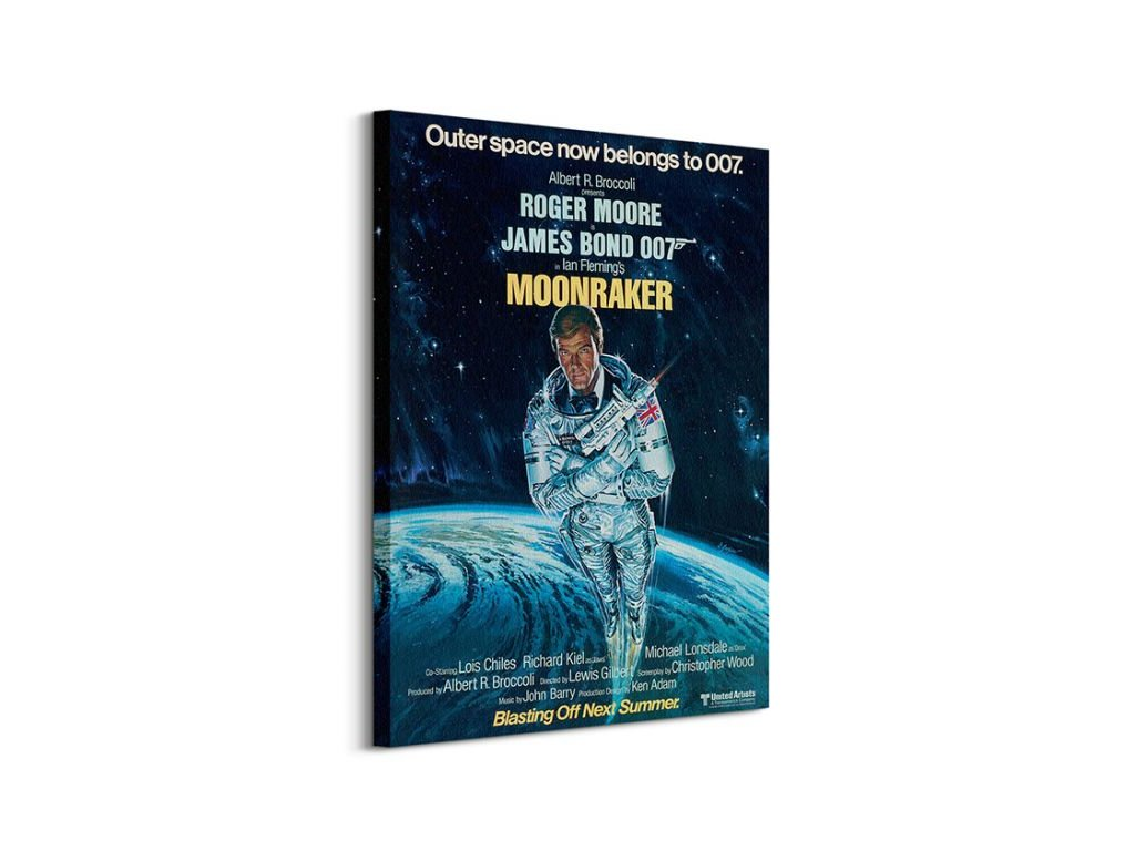 17251 vaszonkep james bond moonraker outer space 60x80cm