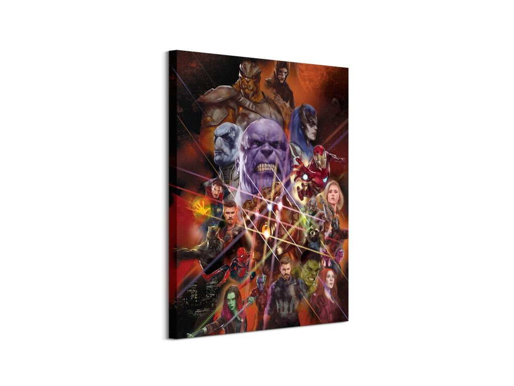 17722 vaszonkep marvel avengers infinity war heroes 60x80cm