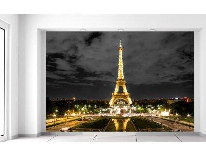 Fotótapéta Eiffel-torony esti fényképe  Extra súly és vastagság (180-212g/m2 és 100um)