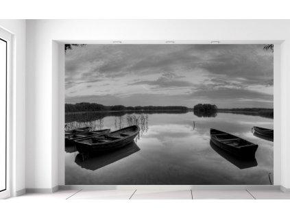 Fotótapéta Csónakok a tópartnál 200x135cm  + Ajándék
