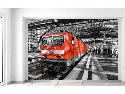 Fotótapéta Vörös mozdony 200x135cm  + Ajándék