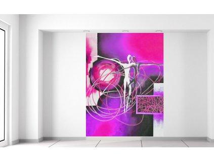 Fotótapéta Táncoló alakok lila mezőben 150x200cm  + Ajándék