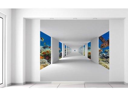 Fotótapéta Folyosó a tenger alján  + Ajándék
