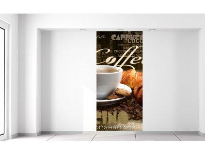 Fotótapéta Finom kávé és croissant  Extra súly és vastagság (180-212g/m2 és 100um)