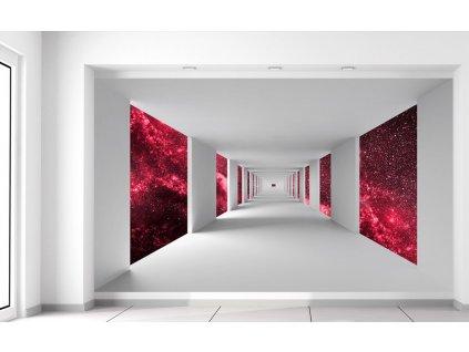 Fotótapéta Folyosó és piros galaxis  Extra súly és vastagság (180-212g/m2 és 100um)