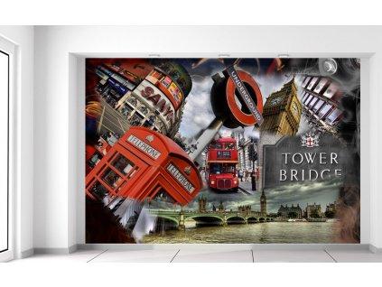 Fotótapéta Absztrakt London 200x135cm  Extra súly és vastagság (180-212g/m2 és 100um)
