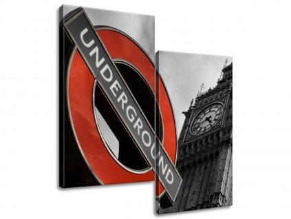 Vászonkép Londoni metró  HD nyomtatás