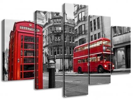Vászonkép Telefonfülke Londonban UK  + Ajándék