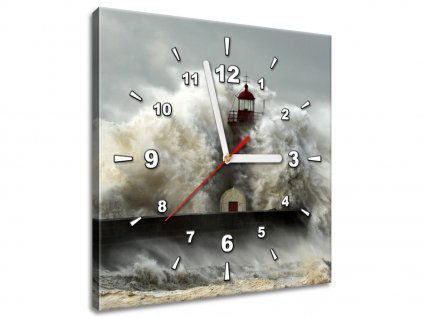 Órás falikép Szeles part és hullámverés  + Ajándék