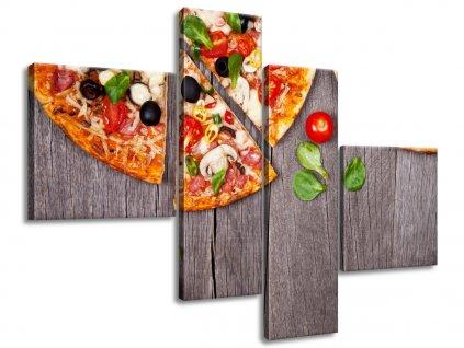 Vászonkép Pizza 100x70cm  + Ajándék