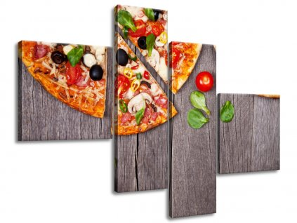 Vászonkép Pizza 160x90cm  + Ajándék