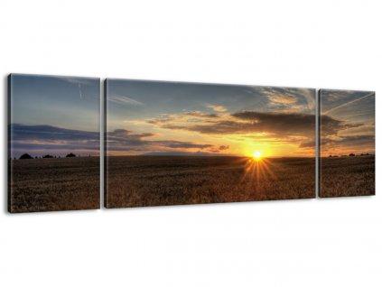 Vászonkép Napnyugta gabonamező felett 170x50cm  + Ajándék