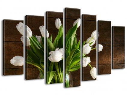 Vászonkép Hófehér tulipánok és almácskák 140x80cm  + Ajándék
