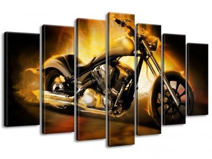 Vászonkép Motorkerékpár tűzben 140x80cm  + Ajándék