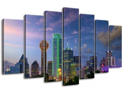 Vászonkép Dallas City USA 140x80cm  + Ajándék