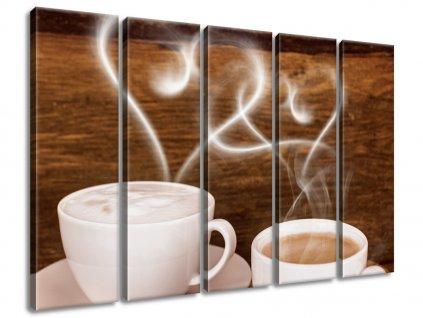 Vászonkép Romantika a kávénál 100x75cm  HD nyomtatás