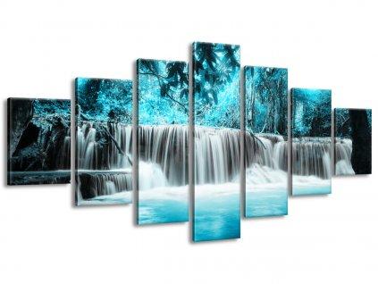 Vászonkép Vízesés a kék dzsungelben 160x70cm  HD nyomtatás