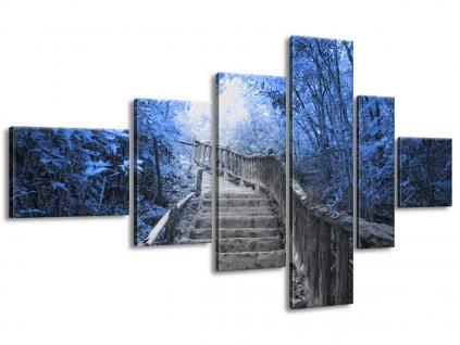 Vászonkép Lépcső a kék erdőben 180x100cm  + Ajándék