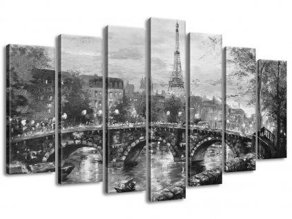Vászonkép Párizsi híd 140x80cm  + Ajándék