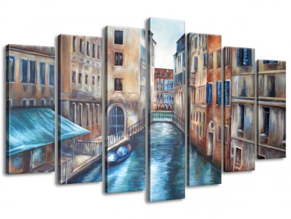 Vászonkép Benátkai házak 140x80cm  + Ajándék