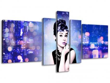 Vászonkép Audrey Hepburn - Jakub Banas 160x80cm  + Ajándék