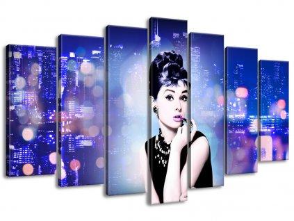 Vászonkép Audrey Hepburn - Jakub Banas 140x80cm  + Ajándék